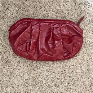 Gap red clutch purse